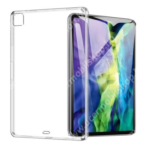 Szilikon védő tok / hátlap - FÉNYES - ÁTLÁTSZÓ - APPLE iPad Pro 12.9 (2020)