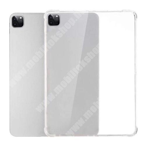 Szilikon védő tok / hátlap - FÉNYES - ÁTLÁTSZÓ - erősített sarkok, ERŐS VÉDELEM! - APPLE iPad Pro 11 (2020)