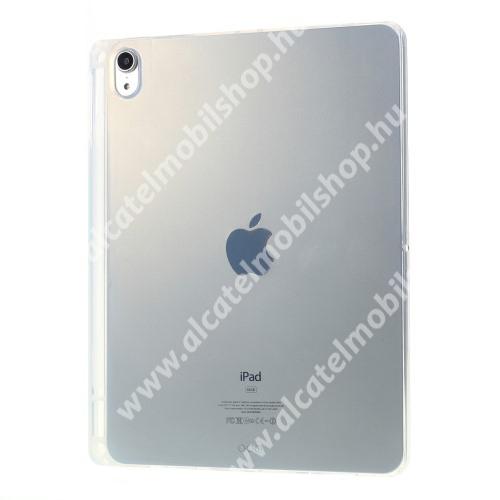 Szilikon védő tok / hátlap - FÉNYES - ÁTLÁTSZÓ - erősített sarkok, ceruzatartó - ERŐS VÉDELEM! - APPLE iPad 10.2 (7th) (2019) / iPad 10.2 (8th) (2020) / iPad 10.2 (9th) (2021)