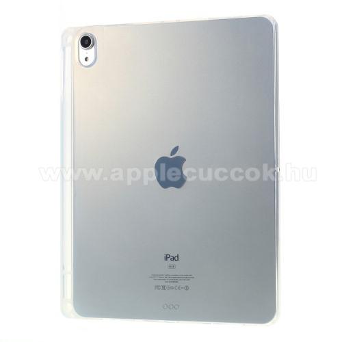 Szilikon védő tok / hátlap - FÉNYES - ÁTLÁTSZÓ - erősített sarkok, ceruzatartó - ERŐS VÉDELEM! - APPLE iPad 10.2 (7th Generation) (2019) / iPad 10.2 (8th Generation) (2020)