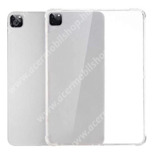 Szilikon védő tok / hátlap - FÉNYES - ÁTLÁTSZÓ - erősített sarkok, ERŐS VÉDELEM! - APPLE iPad Pro 12.9 (2020)