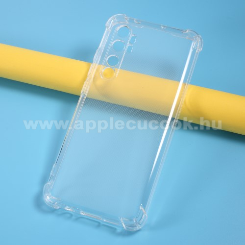 Szilikon védő tok / hátlap - FÉNYES - ÁTLÁTSZÓ - erősített sarkok - Xiaomi Mi Note 10 Lite