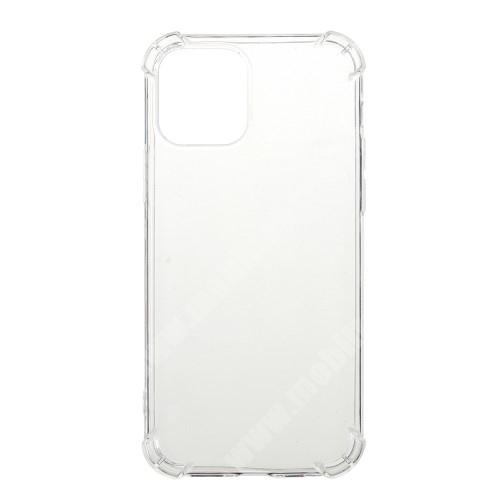 Szilikon védő tok / hátlap - FÉNYES - ÁTLÁTSZÓ - erősített sarkok - APPLE iPhone 12 mini