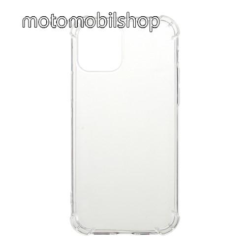 Szilikon védő tok / hátlap - FÉNYES - ÁTLÁTSZÓ - erősített sarkok - APPLE iPhone 12 / APPLE iPhone 12 Pro