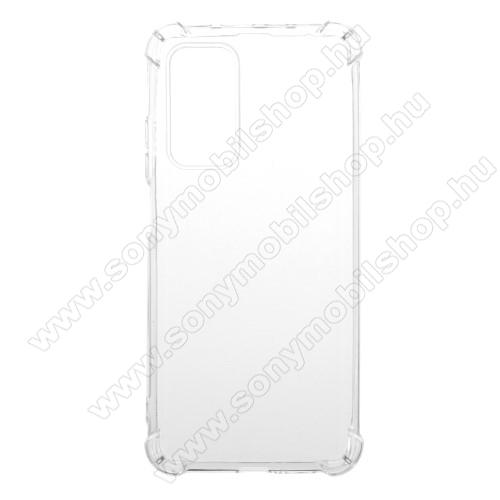 Szilikon védő tok / hátlap - FÉNYES - ÁTLÁTSZÓ - erősített sarkok - Xiaomi Mi 10T 5G / Mi 10T Pro 5G / Redmi K30S