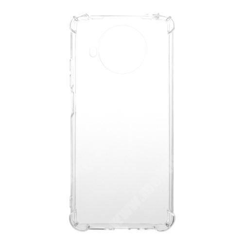 Szilikon védő tok / hátlap - FÉNYES - ÁTLÁTSZÓ - erősített sarkok - Xiaomi Mi 10T Lite 5G / Redmi Note 9 Pro 5G / Mi 10i 5G