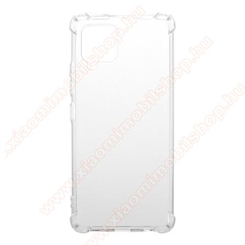 Szilikon védő tok / hátlap - FÉNYES - ÁTLÁTSZÓ - erősített sarkok - SAMSUNG Galaxy A42 5G (SM-A425F)