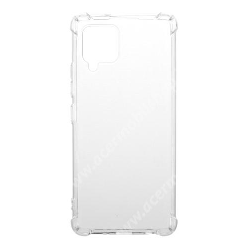 Szilikon védő tok / hátlap - FÉNYES - ÁTLÁTSZÓ - erősített sarkok - SAMSUNG Galaxy A42 5G (SM-A425F) / Galaxy M42 5G (SM-M426B)