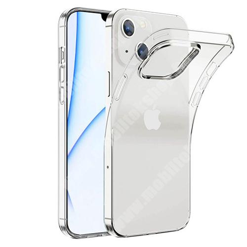Szilikon védő tok / hátlap - FÉNYES - ÁTLÁTSZÓ - APPLE iPhone 13 mini