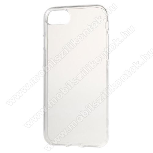 Szilikon védő tok / hátlap - FÉNYES - ÁTLÁTSZÓ - APPLE iPhone 7 (4.7) / APPLE iPhone 8 (4.7)