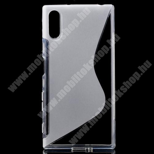 Szilikon védő tok / hátlap - FÉNYES / MATT - ÁTLÁTSZÓ - Sony Xperia XZ (F8331) / Sony Xperia XZ Dual (F8332)