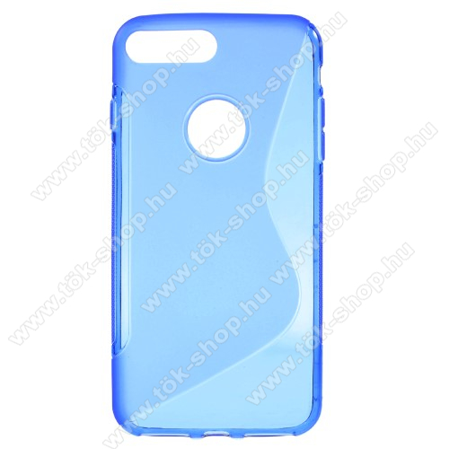 Szilikon védő tok / hátlap - FÉNYES / MATT - KÉK - APPLE iPhone 7 Plus (5.5)