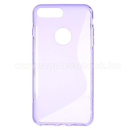 Szilikon védő tok / hátlap - FÉNYES / MATT - LILA - APPLE iPhone 7 Plus (5.5)