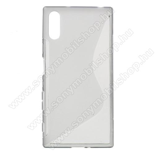 Szilikon védő tok / hátlap - FÉNYES / MATT - SZÜRKE - Sony Xperia XZ (F8331) / Sony Xperia XZ Dual (F8332)