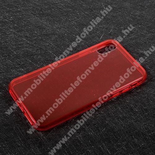 Szilikon védő tok / hátlap - FÉNYES - PIROS - APPLE iPhone X / APPLE iPhone XS