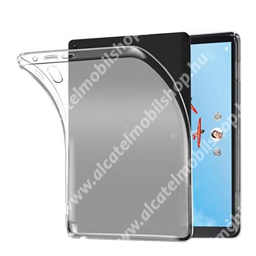 Szilikon védő tok / hátlap - FLEXI - ÁTLÁTSZÓ - Lenovo Tab P10 (TB-X705F)