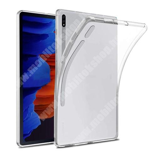 Szilikon védő tok / hátlap - FLEXI - ÁTTETSZŐ - SAMSUNG Galaxy Tab S7 Plus (SM-T970/T976B) / Tab S7 FE (SM-T730) / Tab S7 FE 5G (SM-T736)
