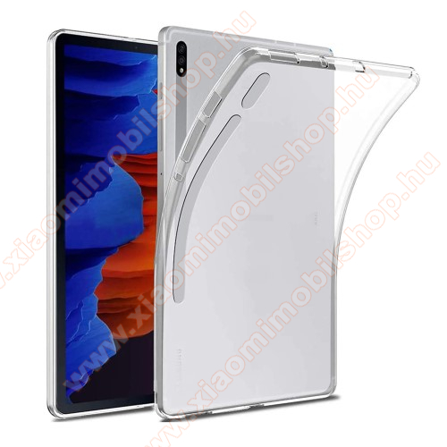 Szilikon védő tok / hátlap - FLEXI - ÁTTETSZŐ - SAMSUNG Galaxy Tab S7 Plus (SM-T970/T976B)