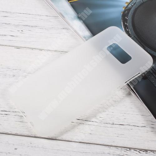 Szilikon védő tok / hátlap - FLEXI - FEHÉR - SAMSUNG SM-G955 Galaxy S8 Plus