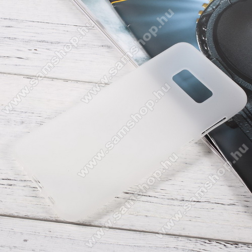 SAMSUNG SM-G955 Galaxy S8 PlusSzilikon védő tok / hátlap - FLEXI - FEHÉR - SAMSUNG SM-G955 Galaxy S8 Plus