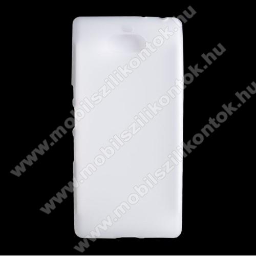 Szilikon védő tok / hátlap - FLEXI - FEHÉR - SONY Xperia 10 Plus