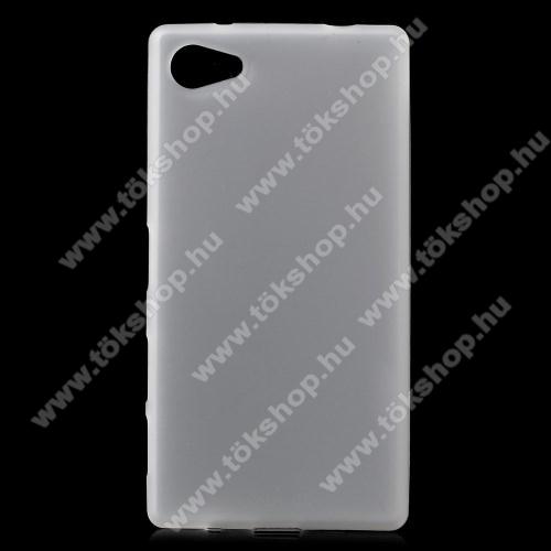 Szilikon védő tok / hátlap - FLEXI - FEHÉR - SONY Xperia Z5 Compact