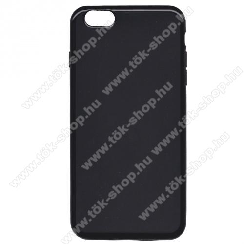 Szilikon védő tok / hátlap - FLEXI - FEKETE - APPLE iPhone 6 Plus