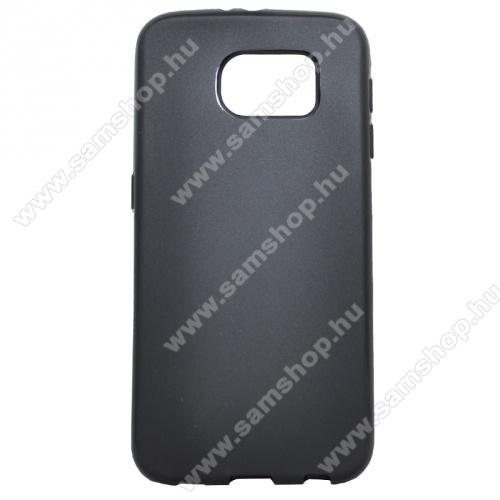 Szilikon védő tok / hátlap - FLEXI - FEKETE - SAMSUNG SM-G920 Galaxy S6