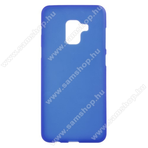 Szilikon védő tok / hátlap - FLEXI - KÉK - SAMSUNG SM-A730F Galaxy A8 Plus (2018)
