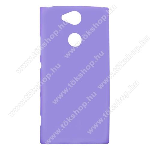Szilikon védő tok / hátlap - FLEXI - LILA - Sony Xperia XA2