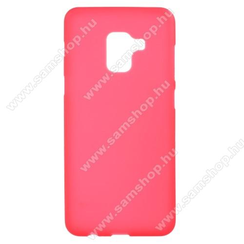 Szilikon védő tok / hátlap - FLEXI - PIROS - SAMSUNG SM-A730F Galaxy A8 Plus (2018)