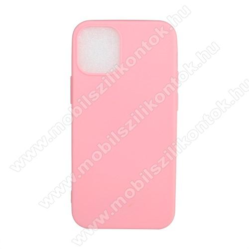 Szilikon védő tok / hátlap - FLEXI - RÓZSASZÍN - APPLE iPhone 12 mini