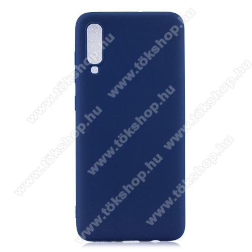 Szilikon védő tok / hátlap - FLEXI - SÖTÉTKÉK - SAMSUNG SM-A705F Galaxy A70