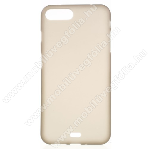 Szilikon védő tok / hátlap - FLEXI - SZÜRKE - APPLE iPhone 7 Plus (5.5)
