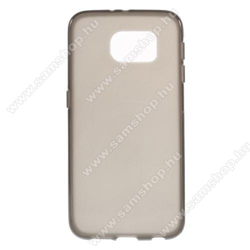 Szilikon védő tok / hátlap - FLEXI - SZÜRKE - SAMSUNG SM-G920 Galaxy S6