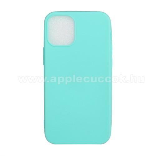 Szilikon védő tok / hátlap - FLEXI - VILÁGOSKÉK - APPLE iPhone 12 mini