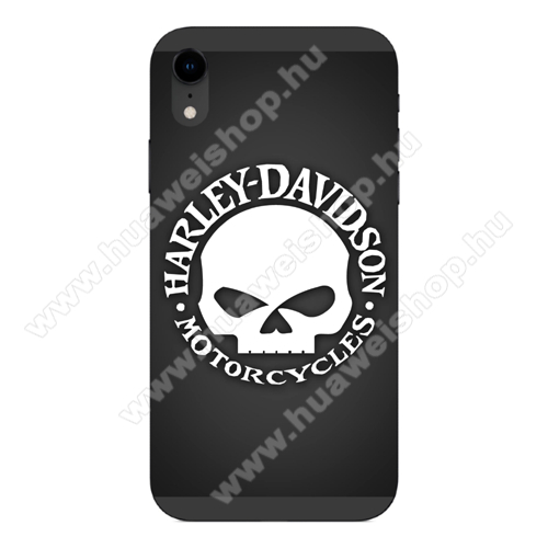 Szilikon védő tok / hátlap - HARLEY-DAVIDSON MINTÁS - APPLE iPhone Xr