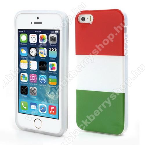 Szilikon védő tok / hátlap - MAGYAR ZÁSZLÓ MINTÁS - Apple IPhone 5 / Apple IPhone 5S