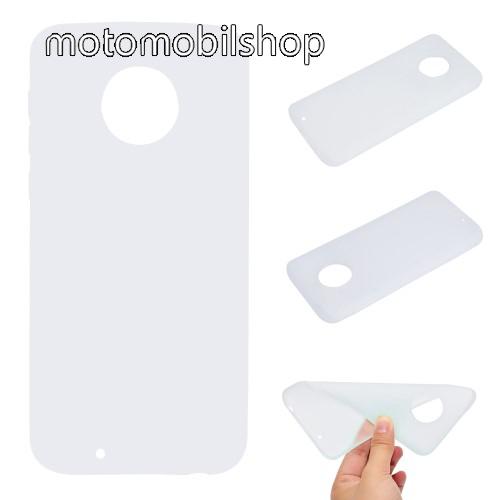 MOTOROLA Moto G6 (2018) Szilikon védő tok / hátlap - MATT - FEHÉR - MOTOROLA Moto G6