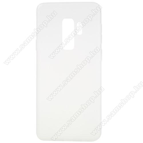 Szilikon védő tok / hátlap - MATT - FEHÉR - SAMSUNG SM-G965 Galaxy S9+