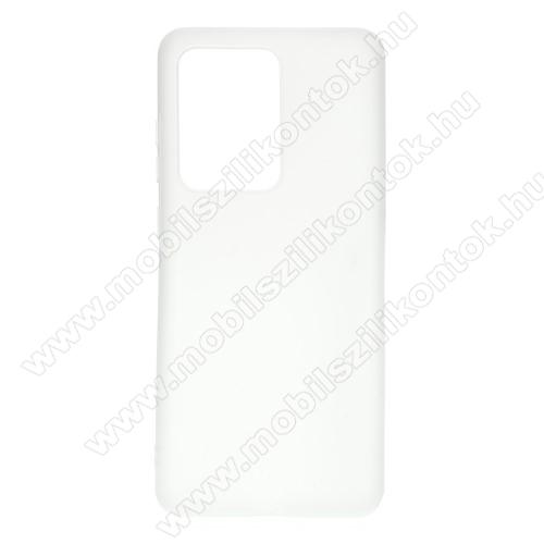 Szilikon védő tok / hátlap - MATT - FEHÉR - SAMSUNG Galaxy S20 Ultra (SM-G988F) / SAMSUNG Galaxy S20 Ultra 5G (SM-G988)