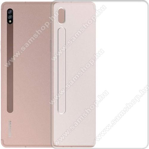 SAMSUNG Galaxy Tab S7 (SM-T870/T875/T876B)Szilikon védő tok / hátlap - MATT - FEHÉR - SAMSUNG Galaxy Tab S7 (SM-T870/T875/T876B)