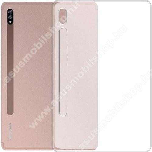 Szilikon védő tok / hátlap - MATT - FEHÉR - SAMSUNG Galaxy Tab S7 (SM-T870/T875/T876B)