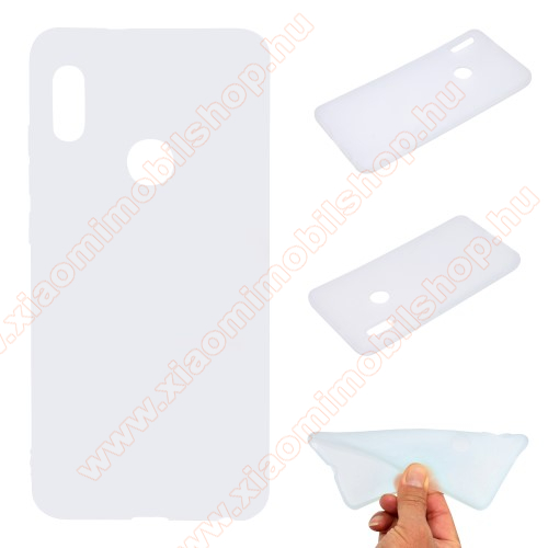 Szilikon védő tok / hátlap - MATT - FEHÉR - Xiaomi Redmi Note 5 Pro (Global version) / Xiaomi Redmi Note 5 (Global version)