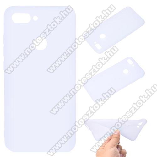 Szilikon védő tok / hátlap - MATT - FEHÉR - Xiaomi Mi 8 Lite / Xiaomi Mi 8 Youth (Mi 8X)