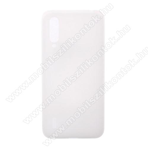 Szilikon védő tok / hátlap - MATT - FEHÉR - Xiaomi Mi 9 Lite / Xiaomi Mi CC9