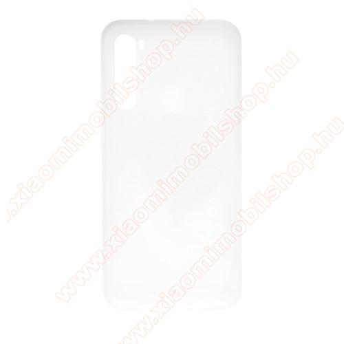 Szilikon védő tok / hátlap - MATT - FEHÉR - Xiaomi Redmi Note 8