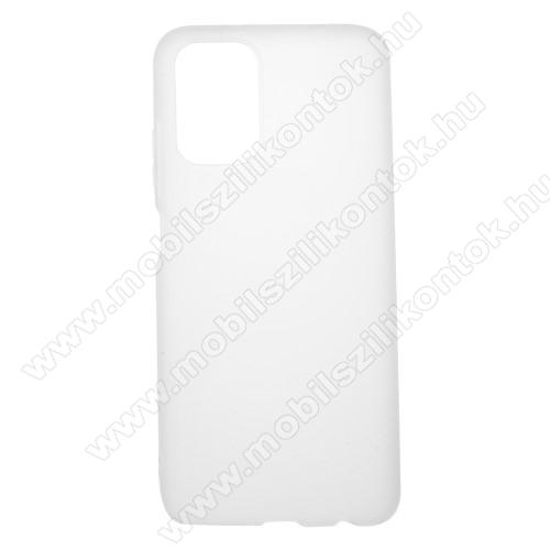 Szilikon védő tok / hátlap - MATT - FEHÉR - Xiaomi Redmi Note 10 / Redmi Note 10S