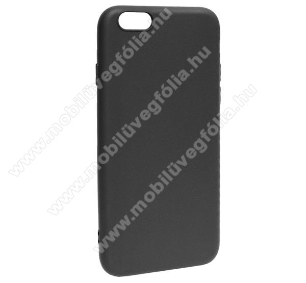 Szilikon védő tok / hátlap - MATT - FEKETE - APPLE iPhone 6 / APPLE iPhone 6s