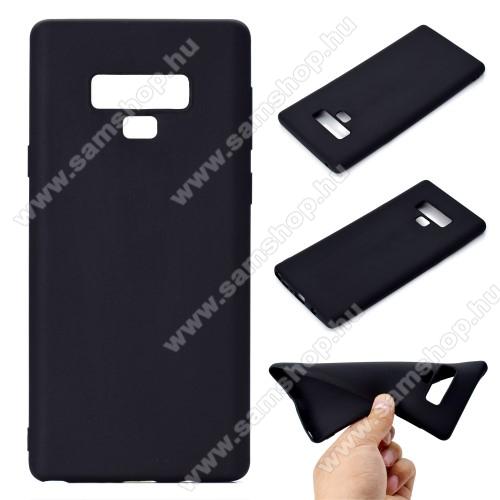 Szilikon védő tok / hátlap - MATT - FEKETE - SAMSUNG Galaxy Note9